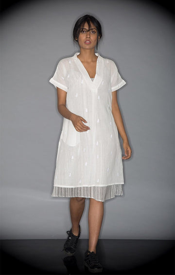 Shift Dress White