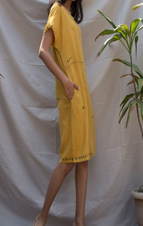 Shift Dress Mustard