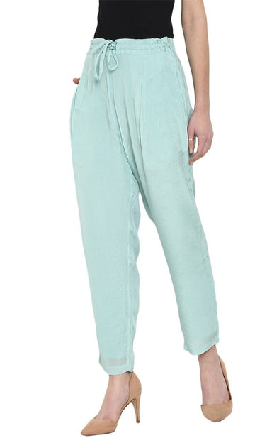 Silk Pants Teal