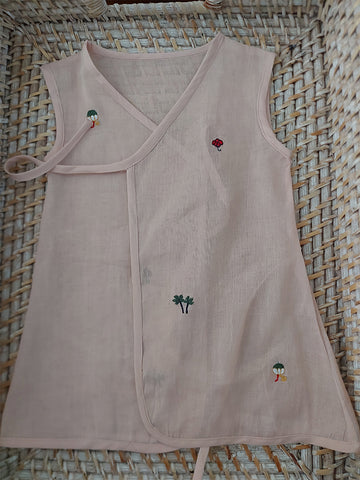 Set of 5 Organic Muslin Baby Vests -2