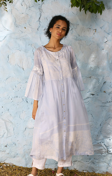 Shibori Tunic (With Slip) and Sheer Pants