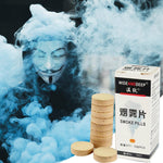 10 Pcs/set White Smoke Pills Halloween Props Combustion Smog Cake Effect Smoke Pills Portable Photography Prop For Party