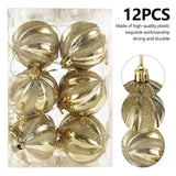 12Pcs Christmas Ornaments Balls 6cm Christmas Tree Balls Xmas Decorative Balls for Home Happy New Year Gift Christmas Ball Decor