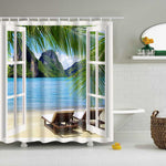 Shower Curtain-Green Plants Shower Curtains for Bathroom Polyester Shower Curtain