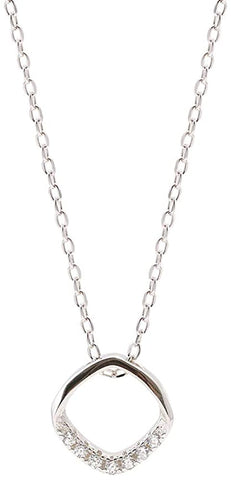 Round diamond pendant necklace, ladies necklace