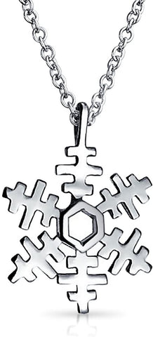 Snowflake pendant necklace, men's and women's necklaces