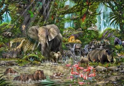 1000 Piece Puzzle-African Jungle Puzzle