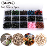 Plastic Crafts Safety Eyes For Teddy Bear Doll Eyes With Washers Soft Toy Snap Nose Puppet Doll DIY Accessories