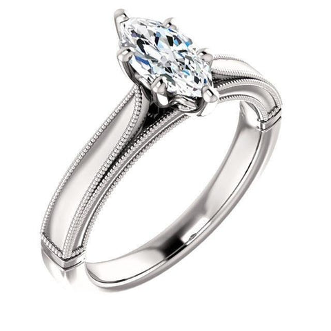 Silver Exquisite Zircon Ring Women's Engagement Wedding Anniversary Ring
