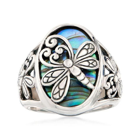 Natural Material Dragonfly Ring Women's Wedding Engagement Anniversary Ring