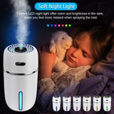 USB Mini Portable Humidifier Car Air Purifier Aroma Diffuser with 7 LED Lights Humidifier Oil Diffuser