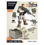 6 Style Mini Soldier Set  Figurines with Building Blocks Gun Army Compatible  Military Series Gift for Chirldren