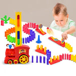 Electric Domino Car Train Vehicle Model Automatic Set Up Colorful Plastic Toys Christmas Gift Game for Boy Kid