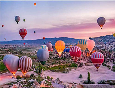 1000 Pieces Jigsaw Puzzle -Hot Air Balloon in the sky