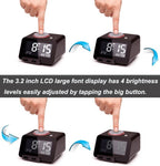 Multi-Function Alarm Clock, Indoor Thermometer, Charging Station/Phone Charger with Dual Port USB