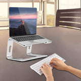 Laptop stand, aluminum laptop desktop stand, ergonomic computer riser card, metal laptop stand