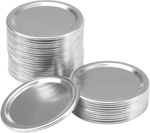 Mason Jar Split-Type Lids with Silicone Seals Rings Mason Storage Metal Caps (Not Include Band)  36 Pack Regular Mouth