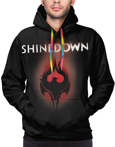 Shinedown hoodie Somewhere in The Stratosphere Hoodies Men's Long Sleeve Sweatshirt Stylish Drawstring Pockets Top
