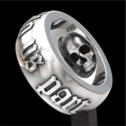 Gothic Retro Ring Horror Skull Men and Women Good Luck Party Birthday Ring