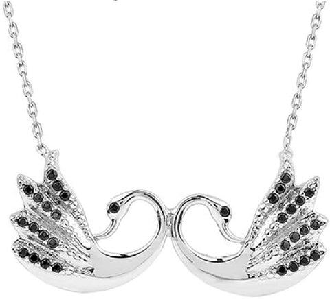 Swan Love Pendant Necklace, Men's and Women's Necklaces