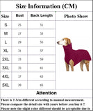 Dog Clothes Winter Keep Warm Solid Outdoor Dog Sweater High Collar Pet Jacket 7 Color