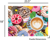1000 Piece Puzzle for Adults - Donuts N' Coffee Jigsaw Puzzle