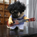 Christmas costumes-Pet Guitar Costume Dog Costumes Guitarist Player Funny Cat Clothes