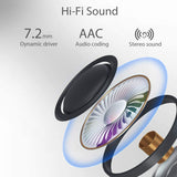 Wireless Earbuds Bluetooth 5.0 Headphones, in-Ear Stereo Wireless Earbuds with Microphone One-Step Pairing with Charging Case, IPX6 Water Proof
