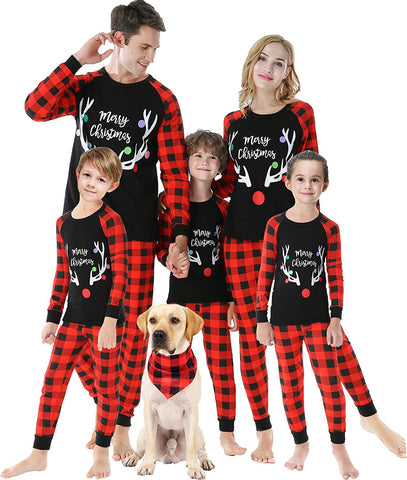 Christmas Family Christmas Pajamas-Striped Kids Sleepwear Children Clothes