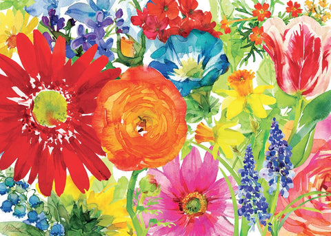 1000 Pieces Jigsaw Puzzle -Abstract oil painting flower puzzle