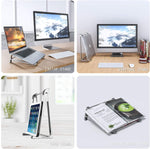 Laptop stand suitable for desk, advanced aviation metal ergonomic vertical laptop stand