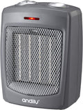 Space Heater Electric Heater for Home and Office Ceramic Small Heater with Thermostat, 750W/1500W