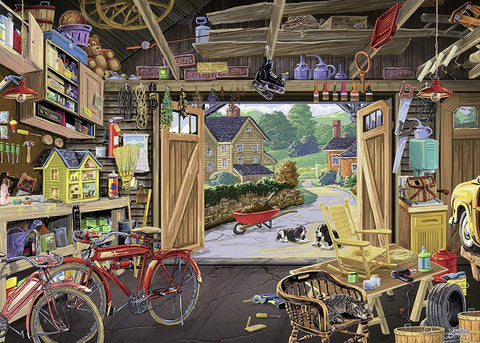 1000 Piece Puzzle for Adults-Grandpa's Garage