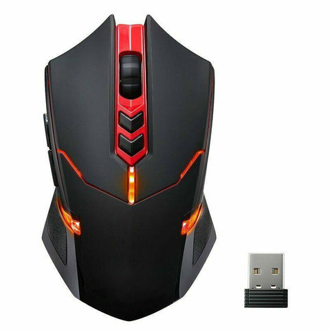 Gaming Mouse-Red Backlight 7 Button High Precision Wireless Mouse