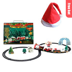Christmas Electric Rail Car Train Toy Children's Electric Toy Railway Train Set Racing Road Transportation Building Toys