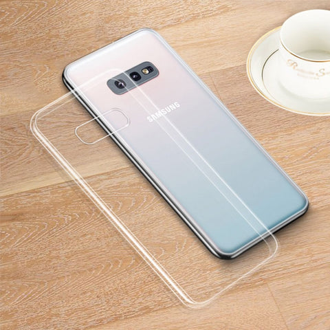 Clear Silicone Soft Case For Samsung Galaxy S5 S6 S7 Edge S8 S9 S10 Lite S20 Plus Ultra E Note 5 8 9 10 M10 M20 Phone Back Cover