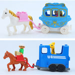 Compatible Building Blocks Children Toys Big Size Brick Building Blocks Toys Cartoon Car Airplane Train Model Toys Gifts