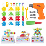 DIY Toys For Children Electric Drill Screw Nut Disassembly Creative Puzzle Toys Accessories Kids Building Bricks