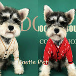 Winter Dog Sweater Soft Puppy Cardigan Outfit Pet Knit Sweater Clothes Schnauzer Terrier Warm Dog Jacket