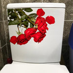 Beautiful Red Rose Fashion Home Living Room Wall Stickers Mural Toilet WC Decor 23.4*18.2CM