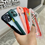 Shockproof Frame Clear Phone Case For iPhone 11 Pro Max XR X XS   Lens Full Protective Transparent Cover