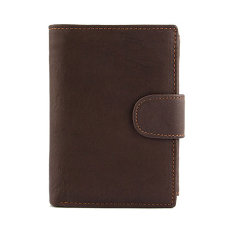 Men Wallet Oil Wax Cowhide Genuine Leather Wallets Coin Purse Clutch Hasp Open Top Quality Retro Short Wallet