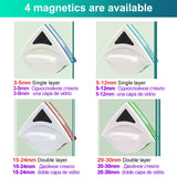 Magnetic Window Brush Glass Cleaner Brush Tool Window Wipe Double Side Magnetic Glass Brush for Washing Household Cleaning Tool