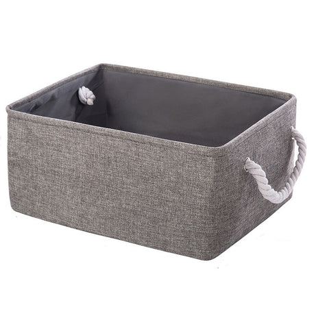 Folding Storage Basket Foldable Linen Storage Box Bins Fabric Organizer Organize Office Bedroom Closet Toys Laundry Basket
