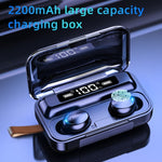 2200mAh Charging Box Wireless Headphone 9D Stereo Sports Waterproof Earbuds Headsets With Microphone