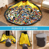 Toy Storage Bag Basket Large Play Mat Toy Clean-up Storage Container Storage Bucket Waterproof Container For Kids Toy Organizer