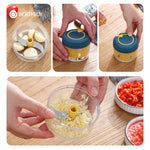 Multifunctional Garlic Press Manual Ginger Garlic Crusher Chopper For Meat Fruit Vegetable Cutter Kitchen Accessories
