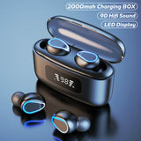 Wireless Headphones Touch Control 9D Stereo Bluetooth Earphones With Microphone Sport Waterproof Earbuds Headset For Android