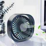 Portable desktop small mini cooling fan USB rechargeable 3 speed adjustable