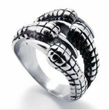 Silver Paw Ring Men and Women Party Dating Halloween Ring